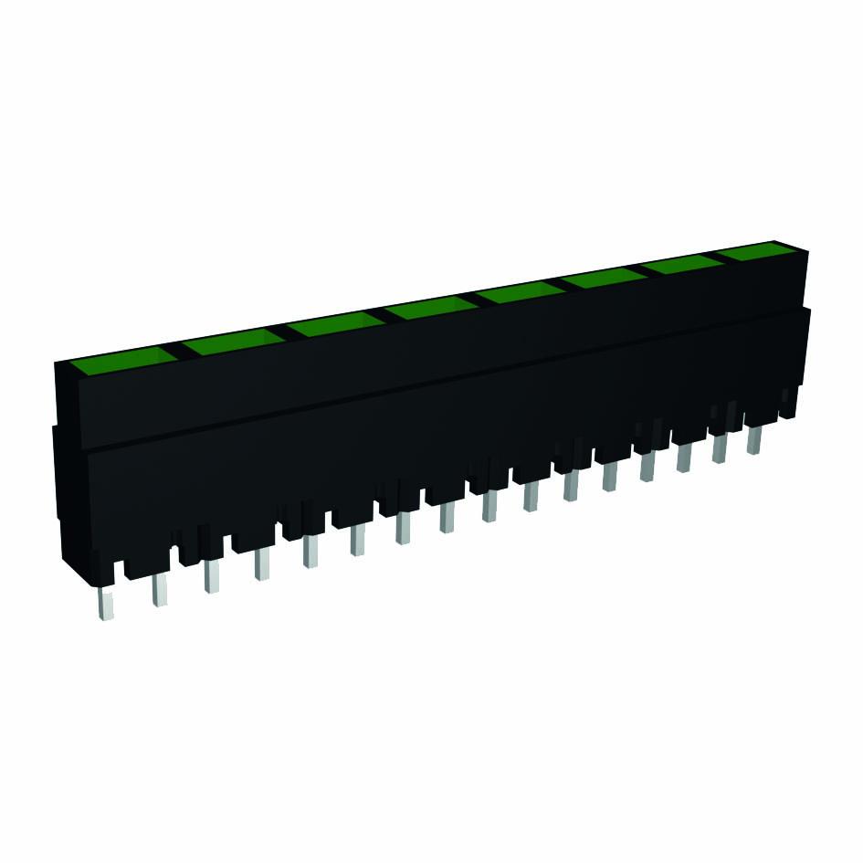 LED-Zeilen, Pins einreihig angeordnet