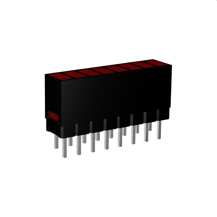 LED-Zeilen, Pins zwei-reihig angeordnet
