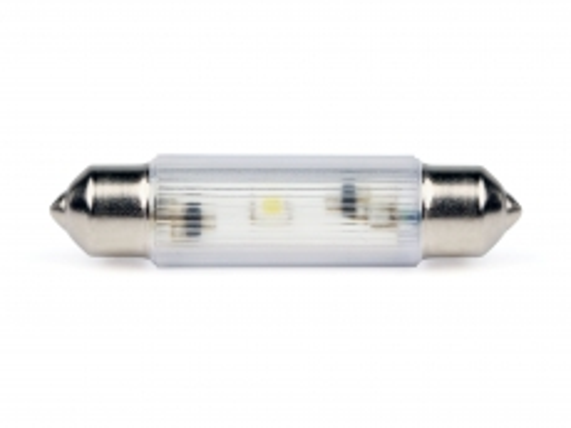 LED-Soffitten Lampe Ø11x39mm (12/14V) ultra-grün