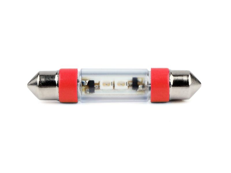 LED-Soffitten Lampe Ø8x39mm (24/28 V) rot