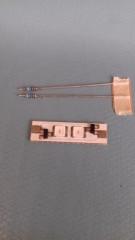 LED-Platine 2-Chip 12/14V AC/DC ROT leuchtend