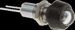 Infrarot-LED 940nm im Gehäuse mit Glaskuppe und schwarzverchromter Kappe, IP67