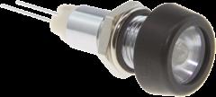 Infrarot-LED 850nm Gehäuse glanzchrom mit Glasplatte und Kappe schwarzchrom, IP67