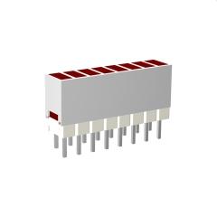 Mini-Line LED-Zeile 10-fach Gehäuse weiss, 4x2mm-LEDs, 9,0mm Höhe, Grün