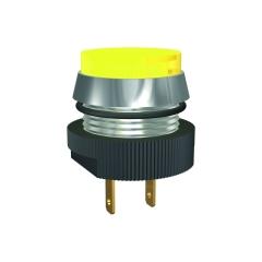 LED-Melde-/Signalleuchte Ø16mm, mit Flachstecker-Anschluss, IP67, 12/14V DC