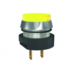 LED-Melde-/Signalleuchte Ø16mm, mit Flachstecker-Anschluss, IP67, 24/28V DC