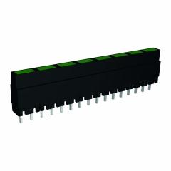 Mini-Line LED-Zeile 8-fach, Gehäuse schwarz, 4x2mm-LEDs, 9,0mm Höhe, Grün