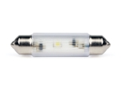 LED-Soffitten Lampe Ø11x39mm (12/14V) gelb