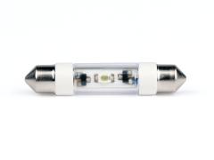 LED-Soffitten Lampe Ø8x39mm (24/28 V) weiss