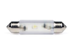 LED-Soffitten Lampe Ø11x39mm (24/28 V) weiss