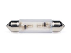 LED-Soffitten Lampe Ø11x39mm (12/14V) weiss